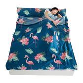 睡袋 全棉旅行睡袋出差旅游便攜純棉睡袋隔臟單雙人床單 晶彩生活