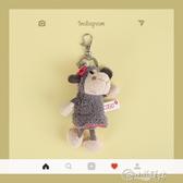 吊飾 小綿羊鑰匙掛件女可愛毛絨玩偶公仔書包掛飾創意個性汽車鑰匙鍊