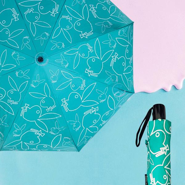 PLAYBOY 三折自動晴雨傘 抗UV 自動傘 摺疊傘 折傘 晴雨傘 遮陽 防曬 雨傘 下雨必備【生活ODOKE】