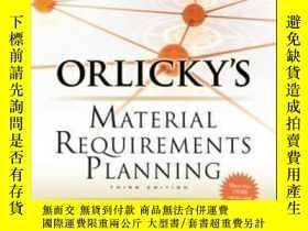 二手書博民逛書店Orlicky s罕見Material Requirements Planning Third Edition