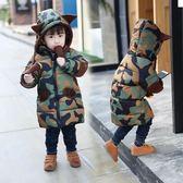 棉衣外套 女童寶寶中長款加厚兒童裝羽絨棉服 森雅誠品