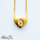 愛情心鑽黃金項鍊...