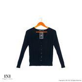 【INI】實穿舒適、美好坑條織紋針織外套.黑色