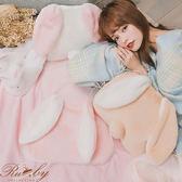 抱枕 兔兔造型抱枕毛毯-Ruby s 露比午茶