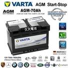 【久大電池】 德國進口 VARTA E39 AGM 70Ah BENZ Slk 200k R171 2008~2011