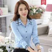 白襯衫女長袖2019春裝新款韓版職業百搭雪紡上衣打底襯衣『小淇嚴選』