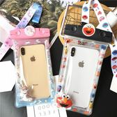 iphoneXs max手機防水袋卡通蘋果6s/7/8Plus通用型游泳XR浮潛水套  魔法鞋櫃