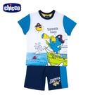 chicco- 休閒-鸚鵡船長短袖套裝