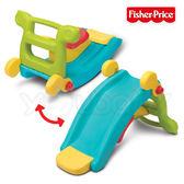 費雪 Fisher-Price 二合一遊戲組 /溜滑梯+搖搖馬