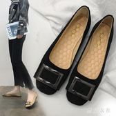 新款時尚韓版一腳蹬平底瓢鞋百搭懶人鞋淺口淑女豆豆鞋 QQ17119『東京衣社』