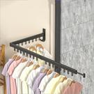 居家必備多功能窗臺隱形鋁合金折疊晾衣架陽臺壁掛式伸縮曬衣桿