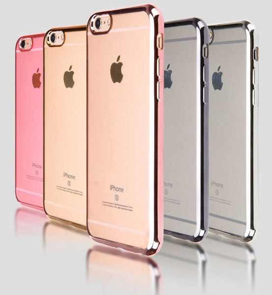 Apple iphone6/i6s plus 5.5吋TPU電鍍邊框殼 矽膠軟殼 保護殼 背蓋殼 手機殼 透明殼iphone 6+ i6s+