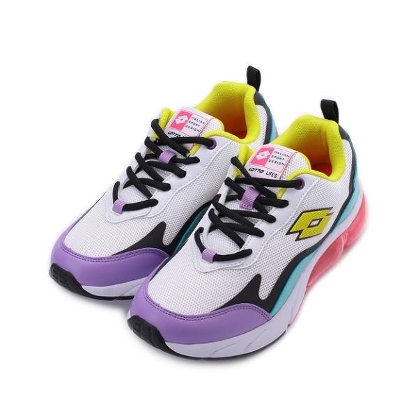 LOTTO FLOAT 氣墊跑鞋 白紫 LT2197 女鞋 鞋全家福