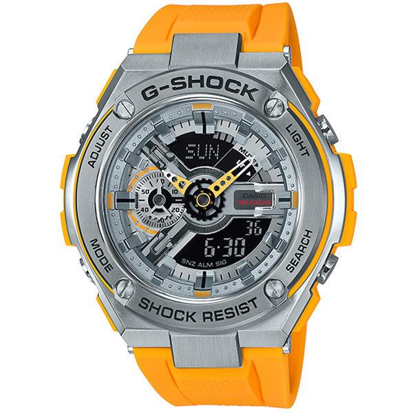 CASIO卡西歐G-SHOCK 蒙德里安爵士樂系列運動腕錶   GST-410-9A 黃