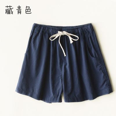 棉麻短褲 棉麻短褲女裝夏季寬鬆大碼亞麻中褲五分褲闊腿休閒褲直筒褲子熱褲