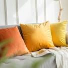 北歐抱枕靠墊沙發靠墊床頭靠背墊天鵝絨抱枕套【輕派工作室】