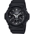 CASIO卡西歐 G-SHOCK 太陽能雙顯手錶-黑 GAS-100B-1A / GAS-100B-1ADR
