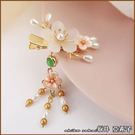 『坂井.亞希子』和風櫻花朵朵開珍珠造型髮夾