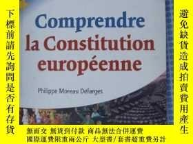 二手書博民逛書店法文原版罕見歐洲憲法 COMPRENDRE LA CONSTITUTION EUROPéENNEY7215 P