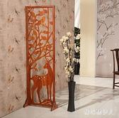 時尚創意雙面屏風隔斷裝飾簡易客廳房間臥室移動折疊玄關簡約現代 PA11558『棉花糖伊人』