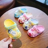洞洞鞋 巴布豆小童洞洞鞋寶寶浴室防滑家用涼拖夏季男童女1-3歲2兒童拖鞋 夢藝