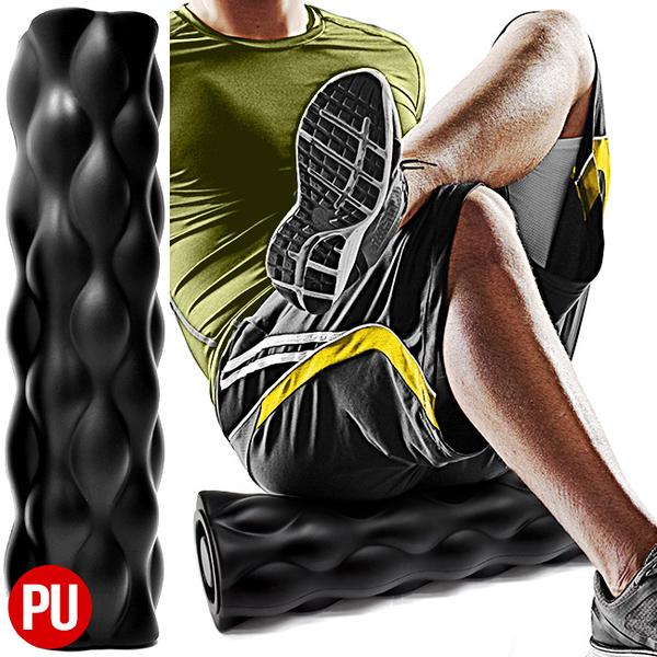 加長版PU瑜珈柱.滾輪肌肉按摩滾輪47公分滾筒.FOAM ROLLER平衡棒運動健身器材.推薦哪裡買專賣店ptt