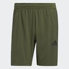 Adidas AEROREADY 男裝 短褲 訓練 吸濕排汗 乾爽 網布拼接 綠【運動界】GM0644