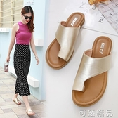 腳肥腳寬大碼女拖鞋41-43外穿夏季時尚百搭網紅夾趾涼拖4042 可然精品
