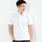 男款排汗POLO衫  CoolMax 吸濕快乾 機能涼感 舒適運動 白色