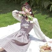 方領旗袍改良版洋裝收腰顯瘦 氣質2020秋裝新款設計感小眾裙子 【現貨快出】