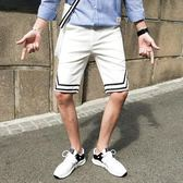 男短褲五分褲 潮流百搭時尚拼色男裝韓版休閒褲子《印象精品》t526