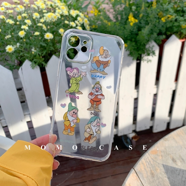七個小矮人卡通蘋果手機殼iphone12/11promax/xr/78plus/xsmax手機殼套