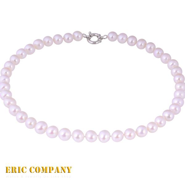 【EM eileen me】日本寶石鑑定DPS專業認證 約10-11mm~天然純白珍珠項鍊