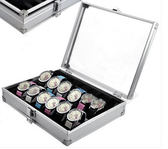 12位手錶箱 鋁合金錶箱 帶鎖 手錶盒 展示箱 收納盒『艾麗花園』