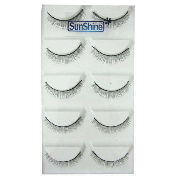 SunShine 植睫練習檢定特製假睫毛(5對/盒) Q-729A