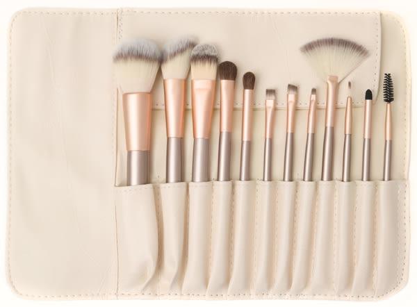 化妝刷粉底刷眼影刷套裝全套化妝工具刷12支套刷唇刷腮紅刷子【快速出貨八折搶購】