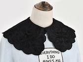 假領子襯衫穿搭假領片 雪紡紗大領子針織衫大學T外套[E1711]滿額送愛康衛生棉預購.朵曼堤洋行