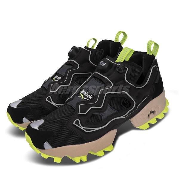Reebok 休閒鞋 Instapump Fury Trail Shroud 黑 黃 男鞋 防水鞋套 戶外 越野風 運動鞋 【PUMP306】 EG3571