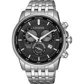 【送米奇電扇】CITIZEN 星辰 光動能萬年曆手錶-灰x銀/42mm BL8150-86H