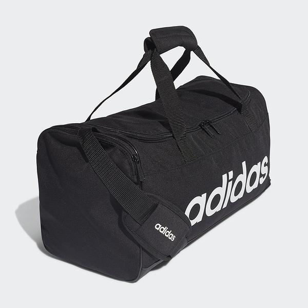 ADIDAS 健身包 LIN DUFFLE S 黑 大LOGO 肩背包 行李袋 旅行袋 (布魯克林) FL3693