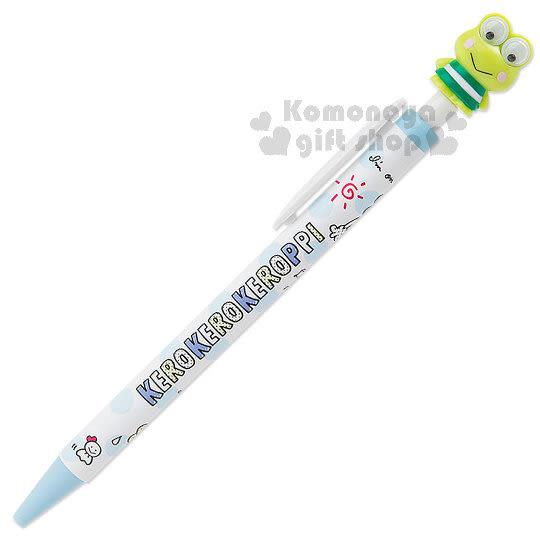 〔小禮堂〕大眼蛙 日製造型原子筆《藍點.天氣》三兄妹普普風系列 4901610-00188