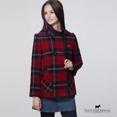 經典格紋雙排釦刷毛大衣外套 Scottish House【AB1602】
