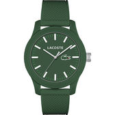 Lacoste 12.12系列撞色活力時尚腕錶-綠