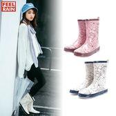 雨鞋韓國女式雨靴平底防滑成人水靴水鞋膠鞋套鞋防水
