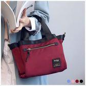 手提包-Skyblue自訂三格層尼龍手提/斜背包-共4色-A03031354-天藍小舖