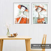油畫餐廳歐式裝飾畫復古抽象油畫客廳壁畫極有家酒吧掛畫個性另類墻畫