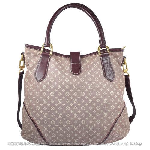 茱麗葉精品 二手精品【9成新】Louis Vuitton LV M56698 經典花紋棉麻兩用肩背包.棕褐