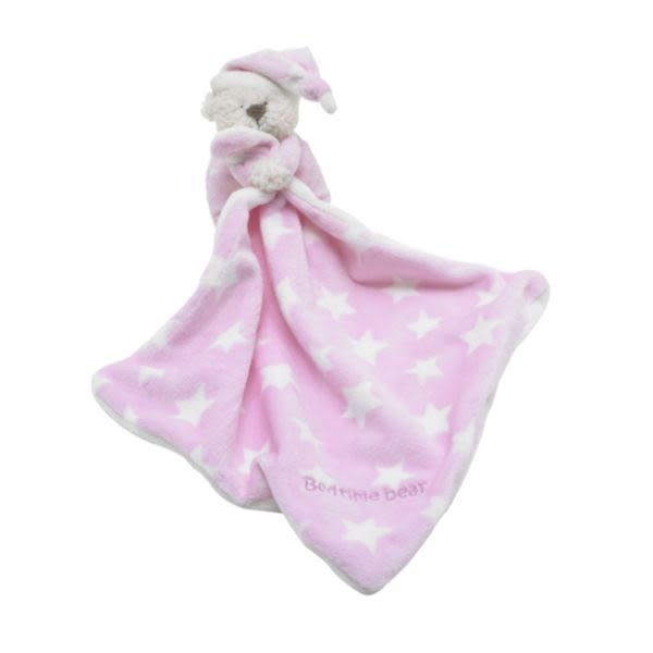 mothercare 晚安熊手拿毯-粉、藍色