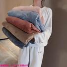 限時特惠居家服 睡衣秋冬季女珊瑚絨家居服套裝新款加厚法蘭絨毛長袖上衣外穿