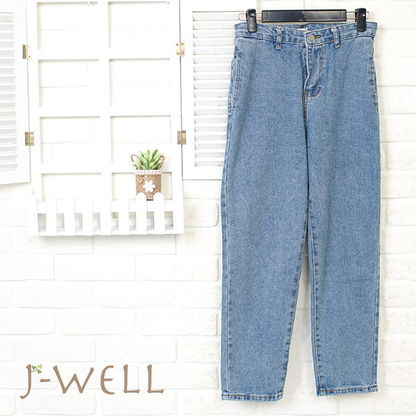 J-WELL 側邊口袋牛仔褲 8J1526